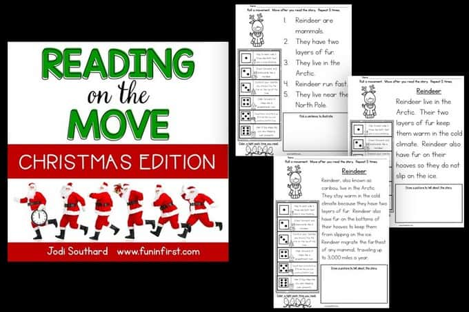 This Christmas Edition of Reading on the Move is a great way to get students up and moving around while reading.