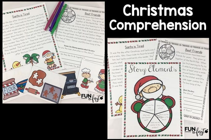 Christmas Comprehension is a great way to add a Christmas twist to your reading lessons.