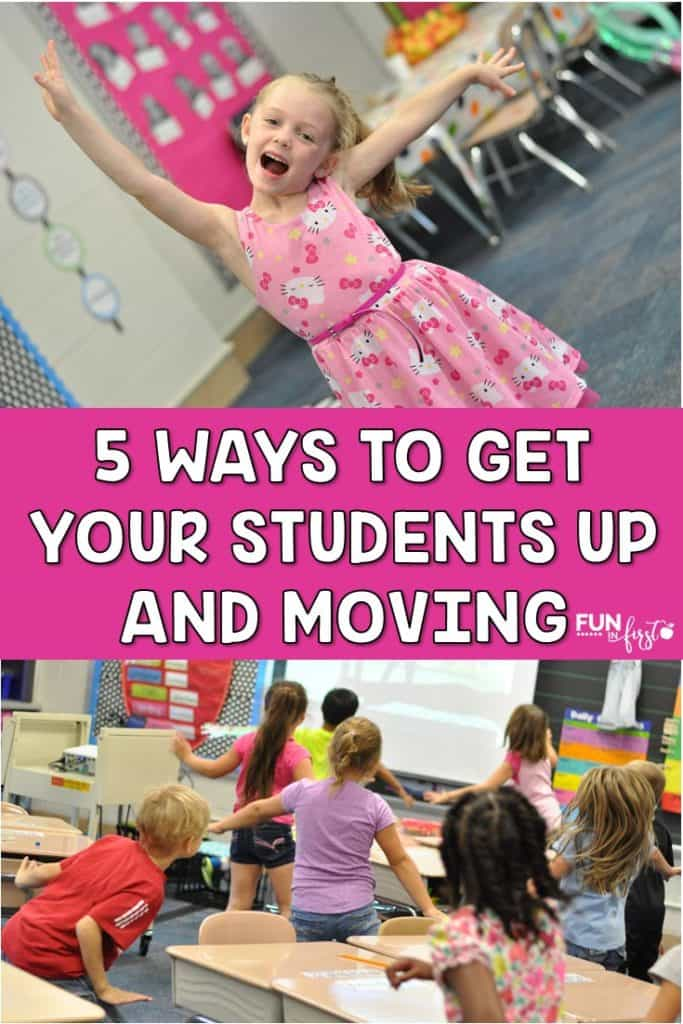 5 Ways to Get Your Students Up and Moving - Great ideas for incorporating movement throughout your day.
