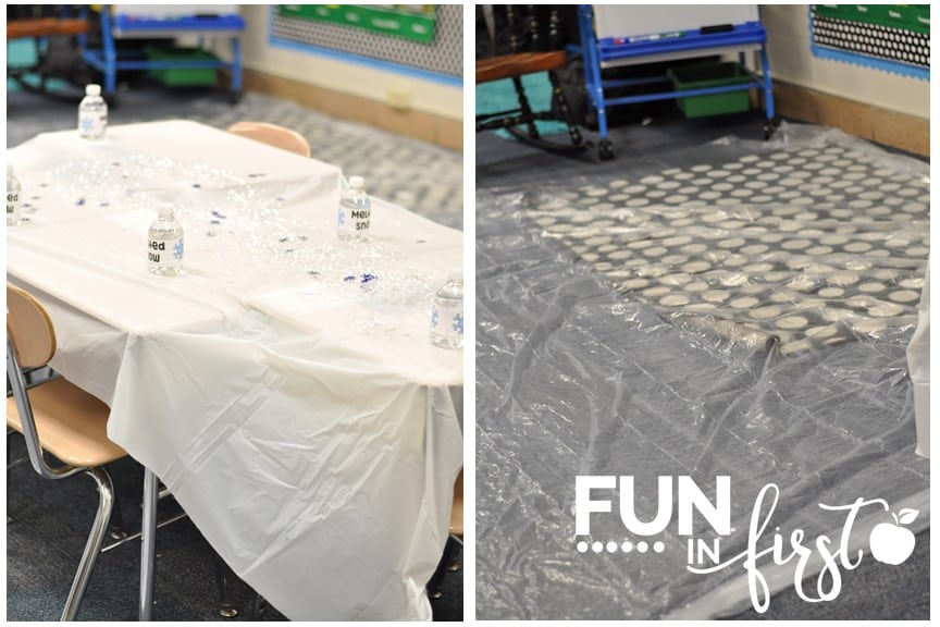Great ideas for transforming your classroom into an Arctic Adventure. Love the idea of using plastic as ice floes.