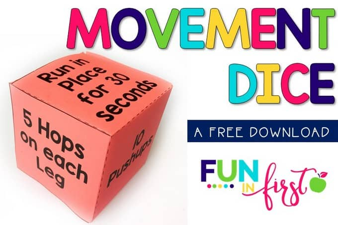 Using a Movement Dice is an easy way to incorporate movement into your classroom.