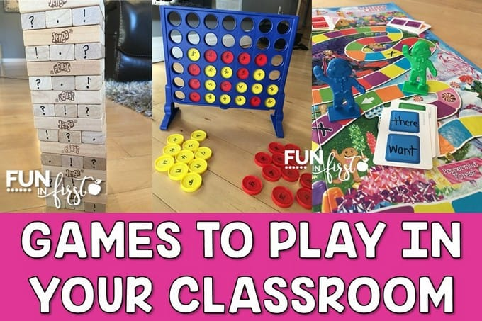 Great ideas for games to play in an elementary classroom.