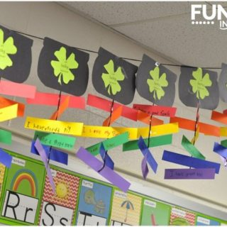 This is a great Saint Patrick's Day craft that incorporates writing.