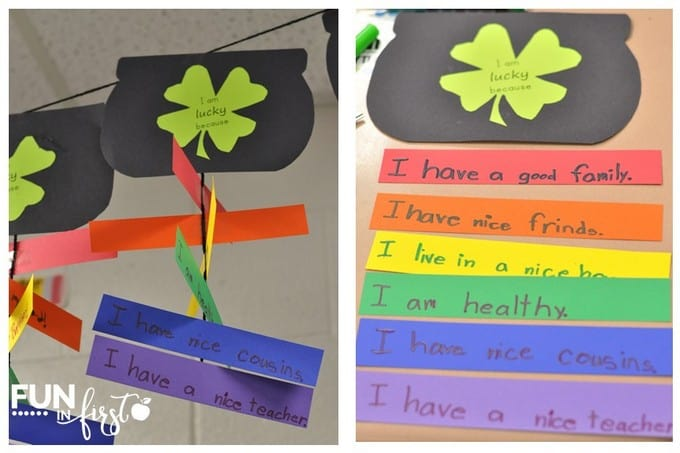 This Saint Patrick's Day craft is a great way to incorporate writing.