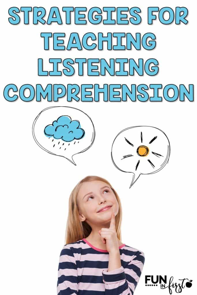 We cannot overlook the power of teaching listening comprehension skills. Listening comprehension sets the foundation for future comprehension success.