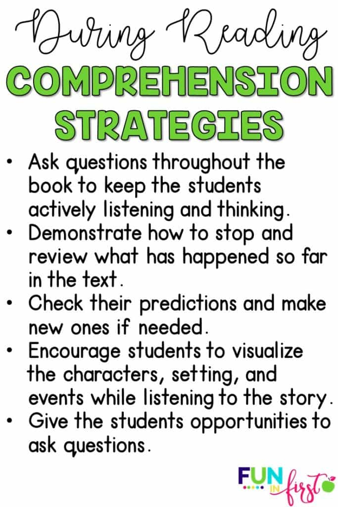 Comprehension Strategies during reading.