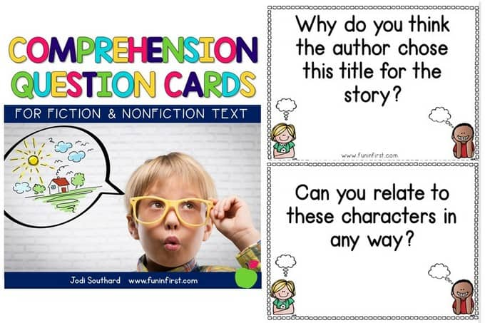 These Comprehension Question Cards are great to have on hand to ensure that you are asking a variety of comprehension questions while reading.