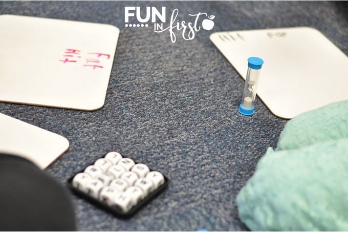 This BOGGLE game is a great addition to our morning tubs.  Check out all of these other ideas.