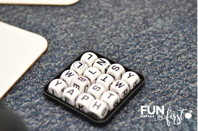 This BOGGLE game is a great addition to our morning tubs.  Check out all of these morning tub ideas.