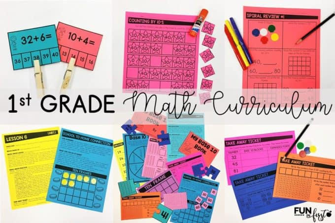 First Grade Math Curriculum and a FREEBIE