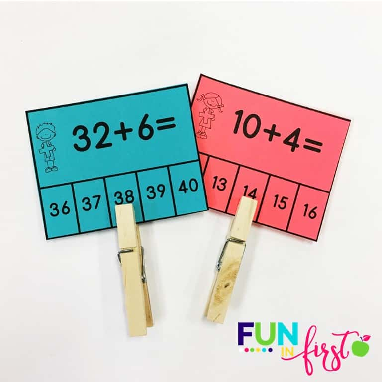 This FREEBIE is from the new First Grade Math Curriculum packets from Jodi Southard at Fun in First.