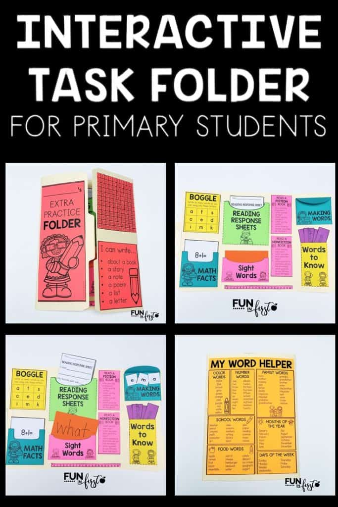 Interactive Task Folders are great for early finishers and when you have a couple extra minutes in your day. Your students will take ownership in their work after making these.