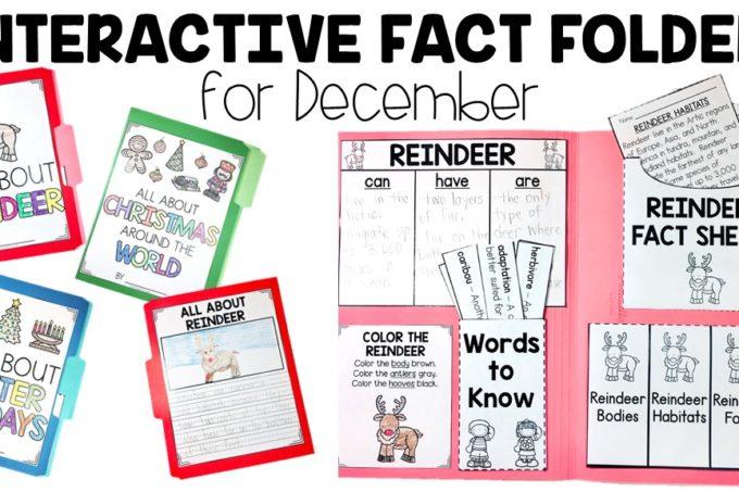 December Interactive Fact Folders