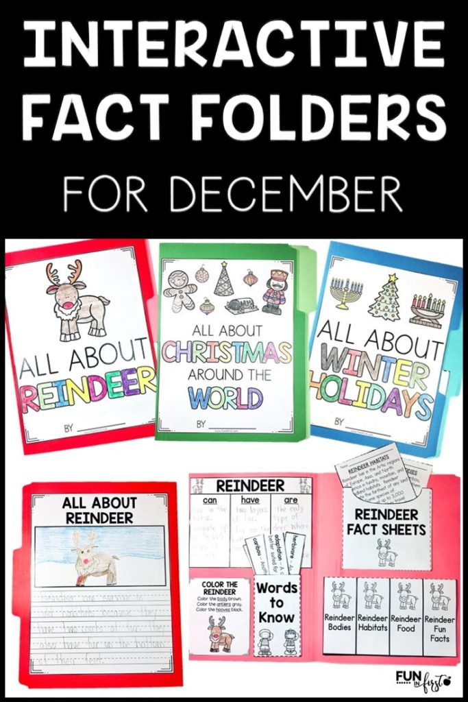 These December Interactive Fact Folders are a hands-on way to integrate science and social studies with reading and writing.