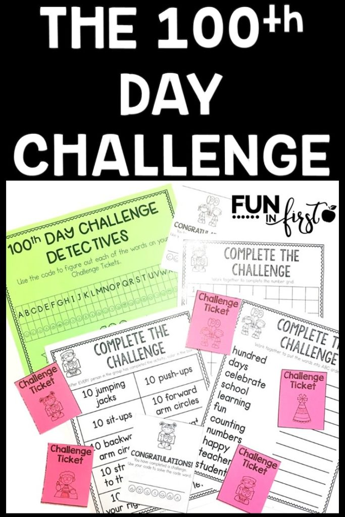 The 100th Day of School Challenge is a fun and engaging way for your students to practice their academic skills while collaborating and earning challenge tickets.