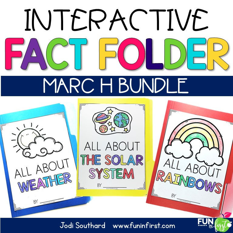 Interactive Fact Folders are a hands-on way to integrate science and social studies with reading and writing.  Students will work on comprehension, vocabulary, and writing while learning about science and social studies topics.