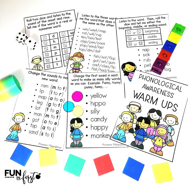 Reading Warm Up Cards are a great way to begin your small group or whole group reading lessons. This set includes warm up cards for Phonological Awareness, Phonics, Vocabulary, Grammar, and Fluency (476 cards in all.) Simply print, laminate, and place on a metal ring.
