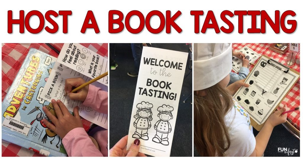 "Hosting a Book Tasting in your classroom is an amazing way to get your students interested in a variety of book genres. Students are engaged while exploring different genres and increasing their interests in books. Extend the ""restaurant theme"" for the day by completing the extra activities to fit the theme."