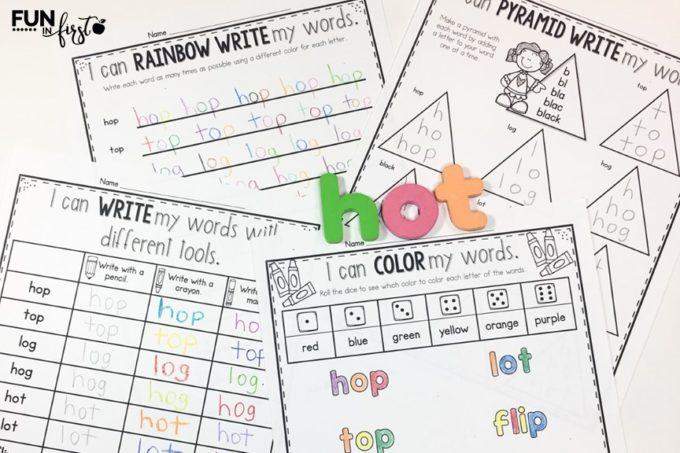 Editable Word Work Activities