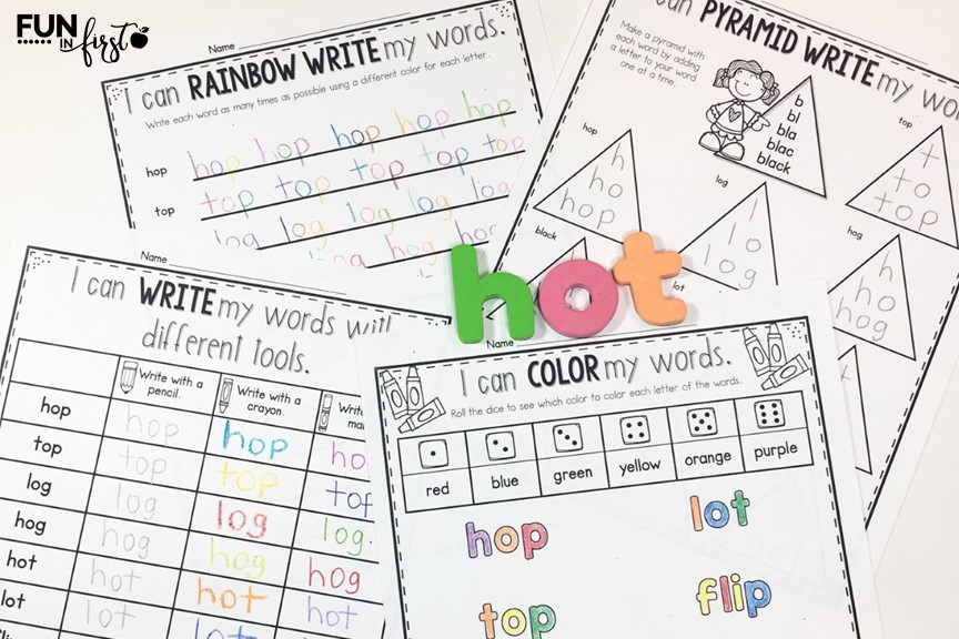 Word Work is such an important skill to practice in the primary classroom. These Word Work Activities allow you to use ANY words that you would like for your students to practice. Your students can practice spelling words, sight words, or word families. The possibilities are endless. Simply type in your list of words and 12 Word Work Activites are automatically generated for you to use in whole group, small groups, independent word work centers, or homework.