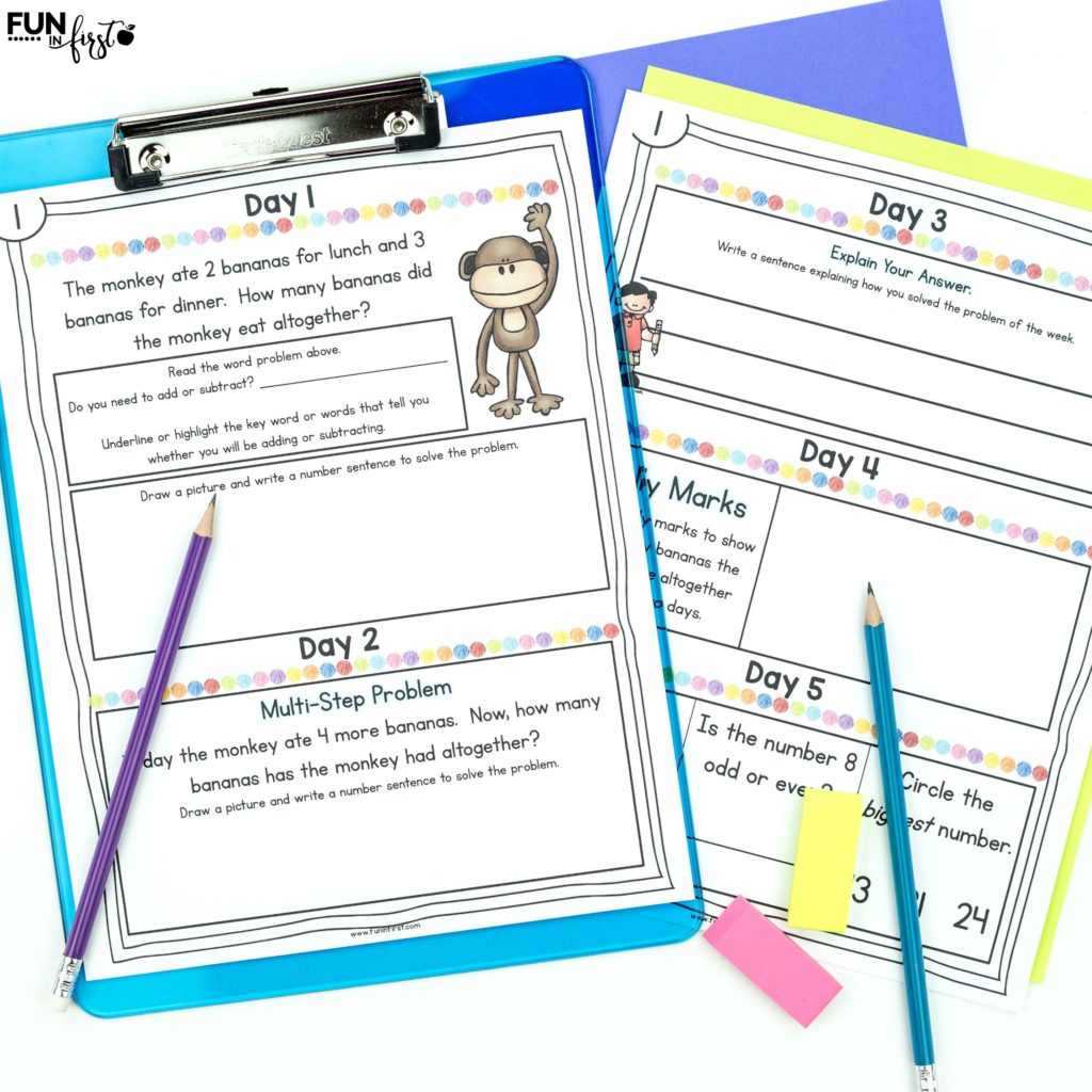 This Daily Math Notebook will provide your students with daily math practice. Students will practice word problems, multi-step problems, written explanations of their answers, and many other math skills. This works well in a whole group or small group setting as well as a math intervention group.