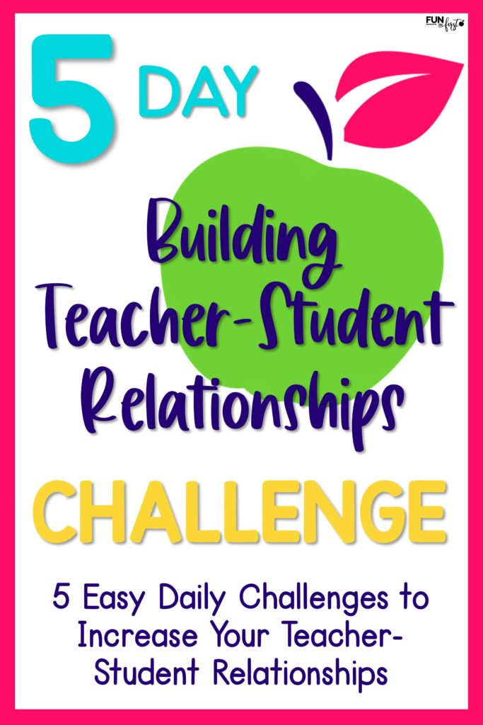 Building Teacher-Student Relationships is the most important component in having a successful school year. Join in this 5-Day Building Teacher-Student Relationships Challenge. 5 Easy to implement challenges to help improve your relationships with your students.