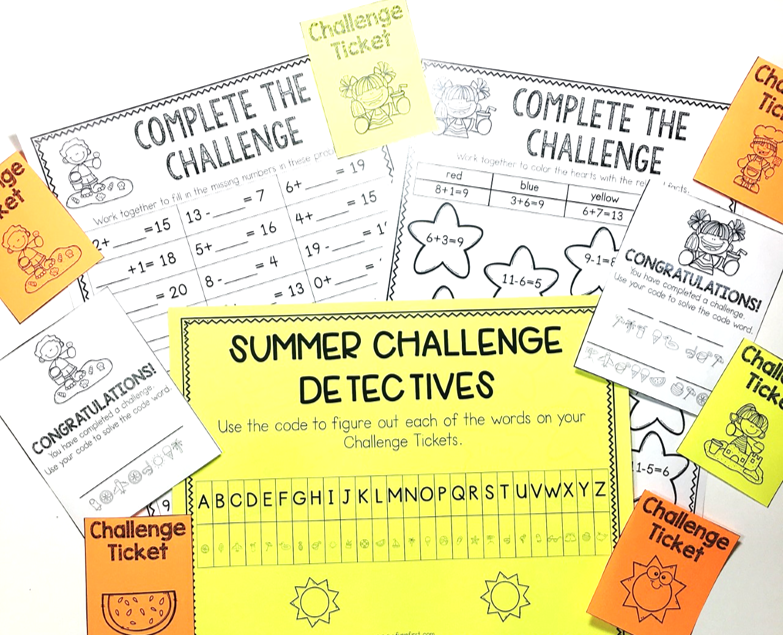 This Summer Classroom Challenge is the perfect way to keep students engaged during this time of the school year.