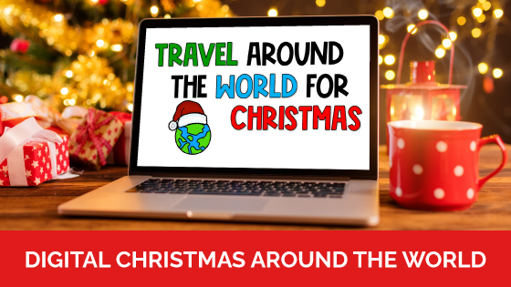 Whether you are in-person or virtual learning right now, your students can still enjoy learning about Christmas Around the World with this digital packet that is perfect for Google Meet or Zoom.