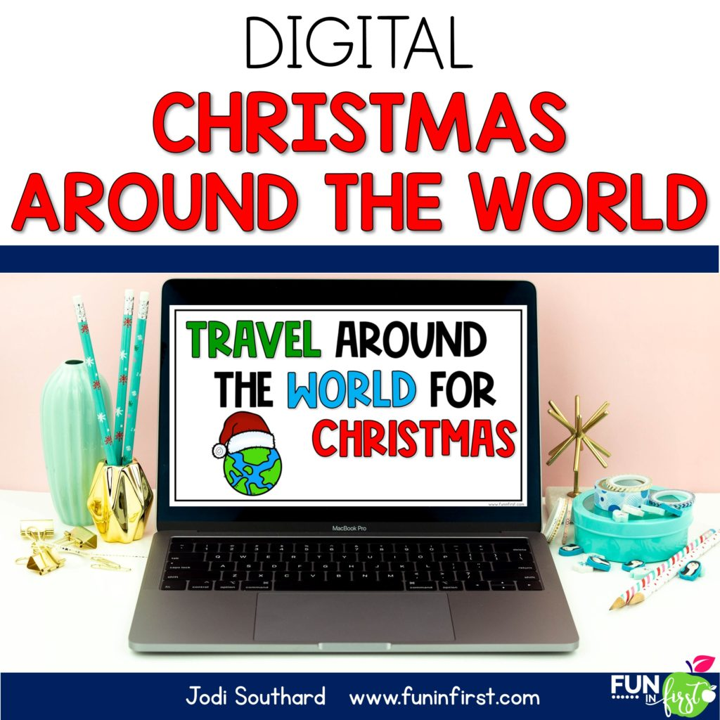 Whether you are in-person or virtual, your students can still learn all about Christmas Around the World with this packet that is perfect to use with Zoom or Google Meet.