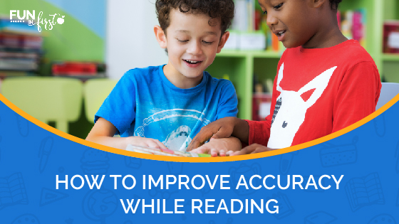 """One important piece of reading fluency is accuracy. Having good accuracy is the ability to read the text with very few or no mistakes. Accuracy truly is the most essential skill of reading fluency. If a child is """"reading"""" a passage quickly, but they are skipping over or changing every other word, they are not getting the full meaning and will not be able to comprehend what they have read, which is the main purpose of reading."""