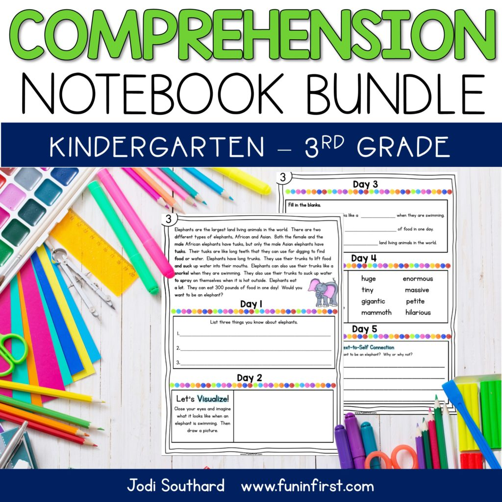This Kindergarten, 1st, 2nd, and 3rd Grade Comprehension Bundle will provide your students with rigorous and focused daily comprehension practice. Each week includes an original text for students to read or have read to them. Each day, the students will practice a comprehension skill related to the text for the week. This bundle is perfect for differentiating for the students in your classroom. *All versions also include interactive Google Slides.