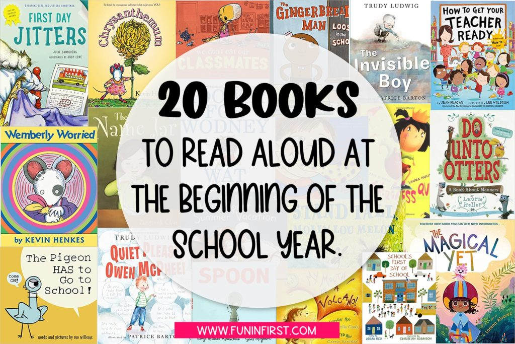 20 Books that are perfect to read at the beginning of the school year.