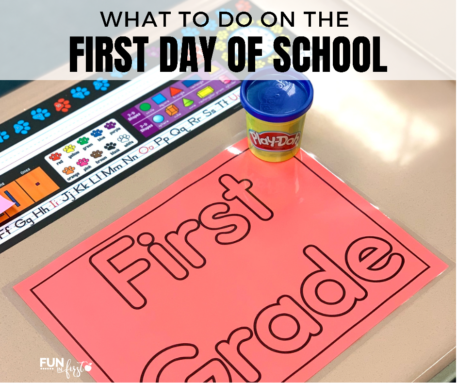 Ideas of what to do on the first day of school.
