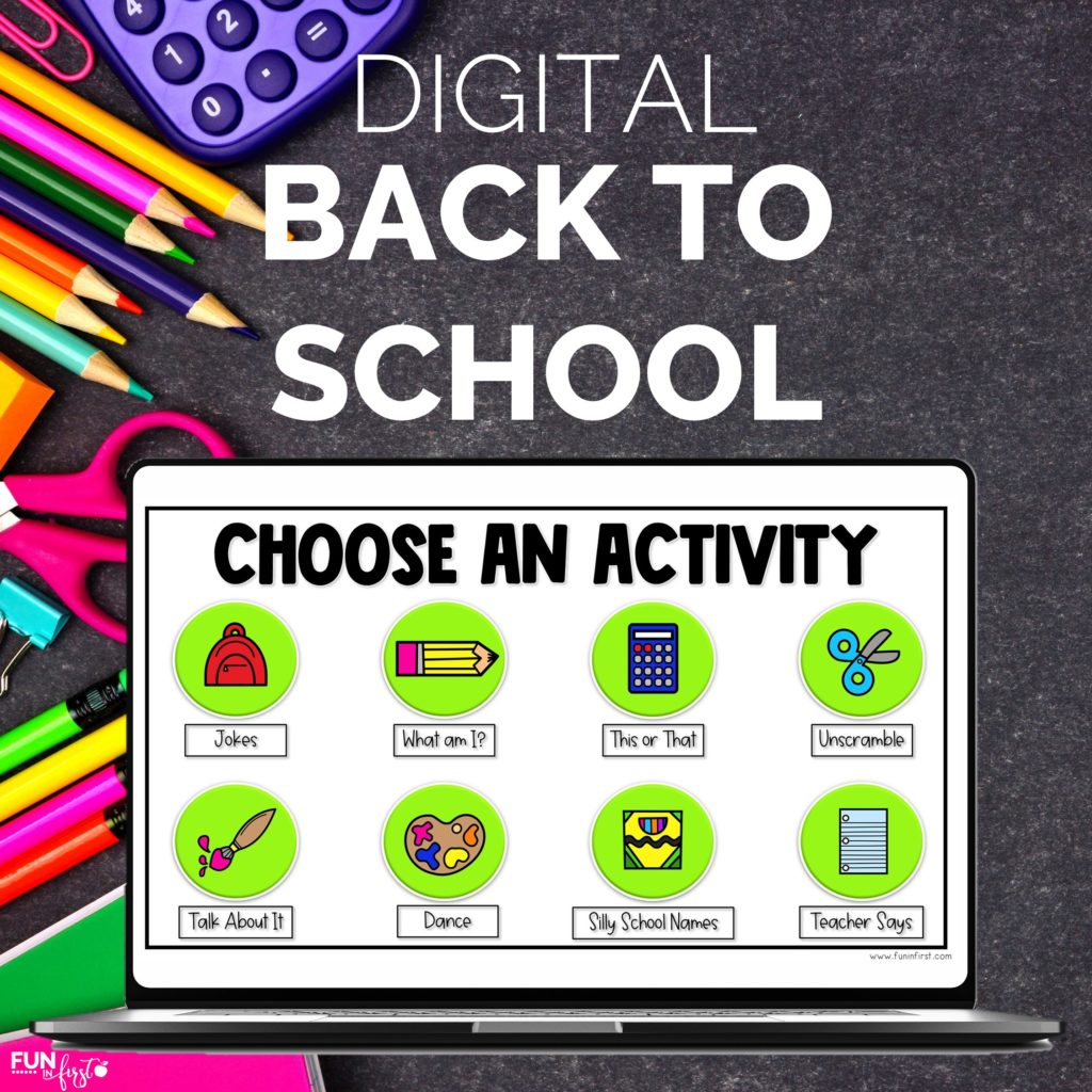 To help you out, I wanted to share one of my favorite back to school activities for K-2nd graders: the Digital Back to School Activity! It can be hard to know exactly what to do on the first day of school. Having a great back to school activity in your plan will help structure your time and add a lot of value to the day.